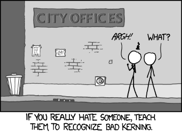 xkcd about kerning